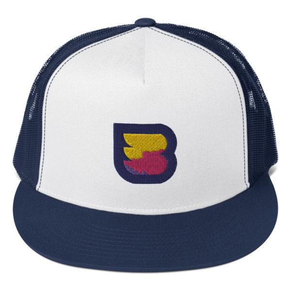 WPBuffs trucker cap navy blue solo